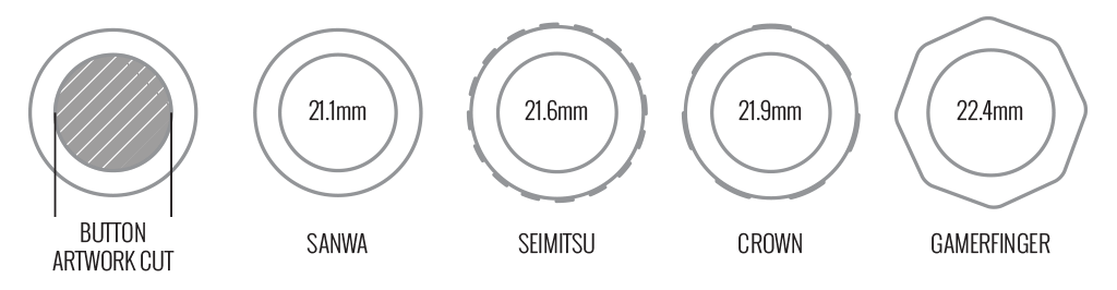 Button insert size diagram